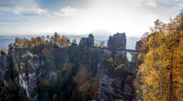 Bastei rock formations in the Saxon Switzerland
