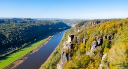 River elbe cutting through valley